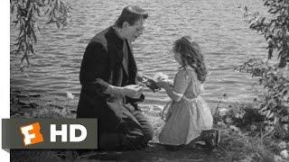 Frankenstein (6/8) Movie Clip - The Monster Befriends Maria (1931) Hd