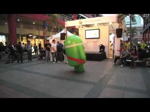 ANDROID DANCING THE CRAZY ANDRODANCE ON CRACK