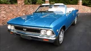1966 Chevelle SS Convertible, marina blue, for sale Old Town Automobile in Maryland