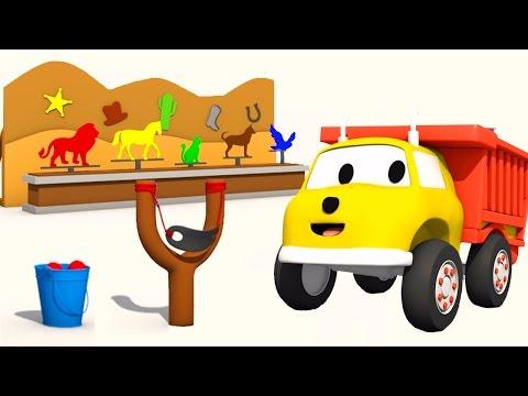 Die Steinschleuder : Lernen Farben und Tiere mit Ethan der Kipper   Lehrreiche Cartoons für Kinder
