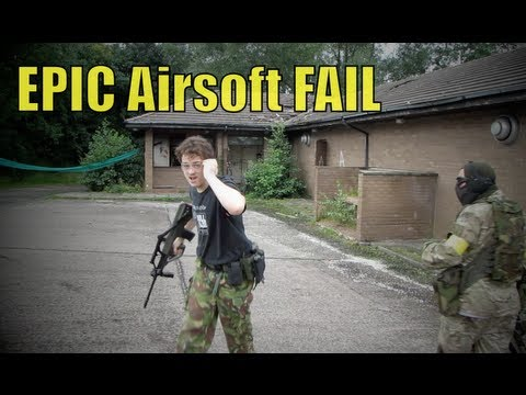 Airsoft War Triple Fail.. Arse,Tit, Grenade..