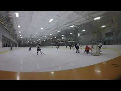 15th hockey game recorded/ Gopro hockey goalie
