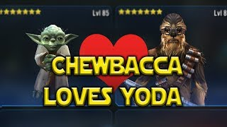 Chewbacca LOVES Hermit Yoda! - Star Wars: Galaxy Of Heroes - SWGOH