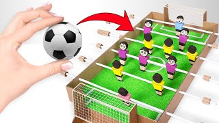 Play Football At Home With DIY Table Football From Cardboard