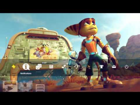 Ratchet & Clank FREE PS4 Theme Preview / Review PS4 Background