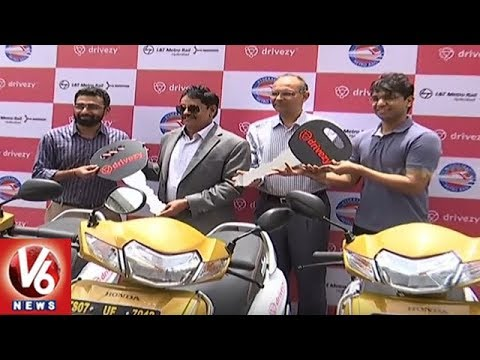 Metro MD NVS Reddy Launches E-Bike Services In Metro Stations | Hyderabad | V6 News