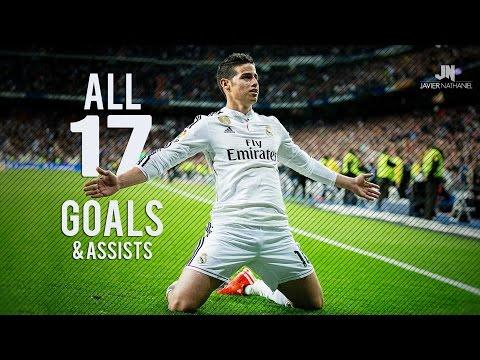 James Rodriguez ● All 17 Goals & Assists ● 2014/2015 HD