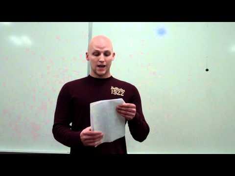 Sample Speech to Persuade - Problem/Solution Design