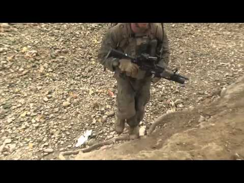 Marines secure dam in Helmand Province, Aghanistan