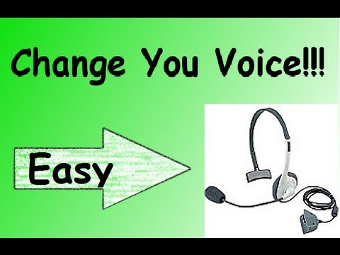 Change your voice on Xbox Live(Easiest Way)
