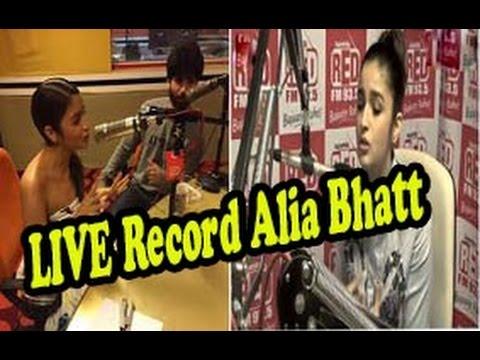 Shaandaar Movie - Alia Bhatt - Shahid Kapoor - Promotion At RED FM