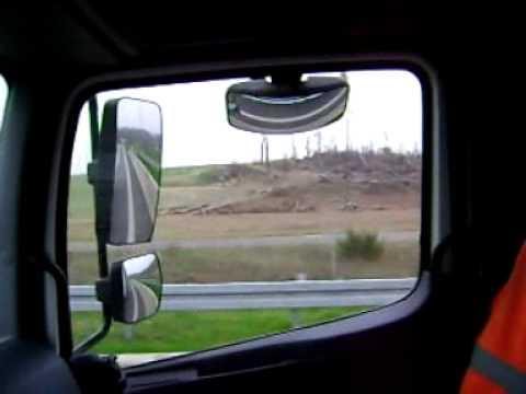 Trąba Powietrzna W Strzelcach Opolskich Na Autostradzie A4.wmv