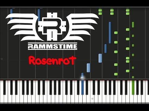 Rammstein - Rosenrot (♫) (ORIGINAL MIDI + Synthesia)