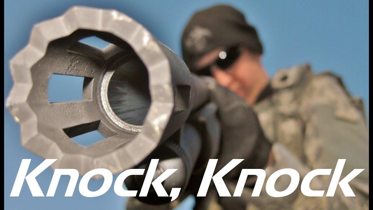 Door knockin 39 mossberg 500 breacher barrel shotgun demo for 12 ga door breaching rounds