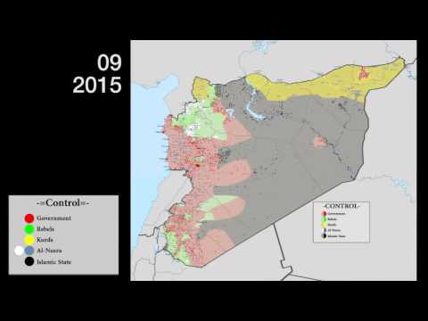 Syrian Civil War evolution - Feb 2015 to Feb 2016