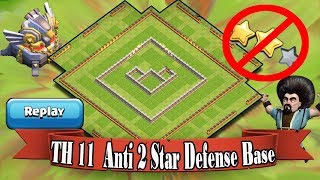 Th11 Defense Base 2017 Replay | Anti 2 star base/Anti Queen Walk Bowler Witch/Anti Lavaloon