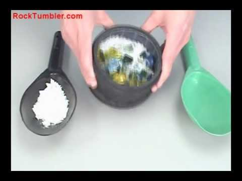 Burnishing Polished Stones or Glass in a Rock Tumbler