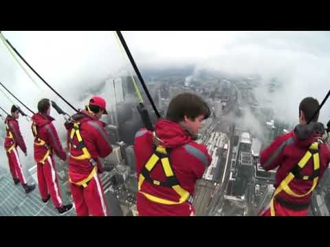 CN Tower Ledge Walk in Toronto, Ontario, Canada