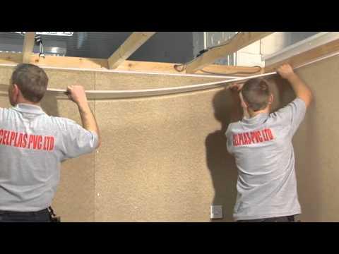 pvc ceiling cladding installation youtube. Black Bedroom Furniture Sets. Home Design Ideas