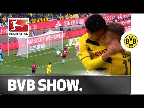 Aubameyang, Kagawa and Reus Steer Dortmund to Victory