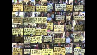 UH Hawaii students support the umbrella movement in Hong Kong