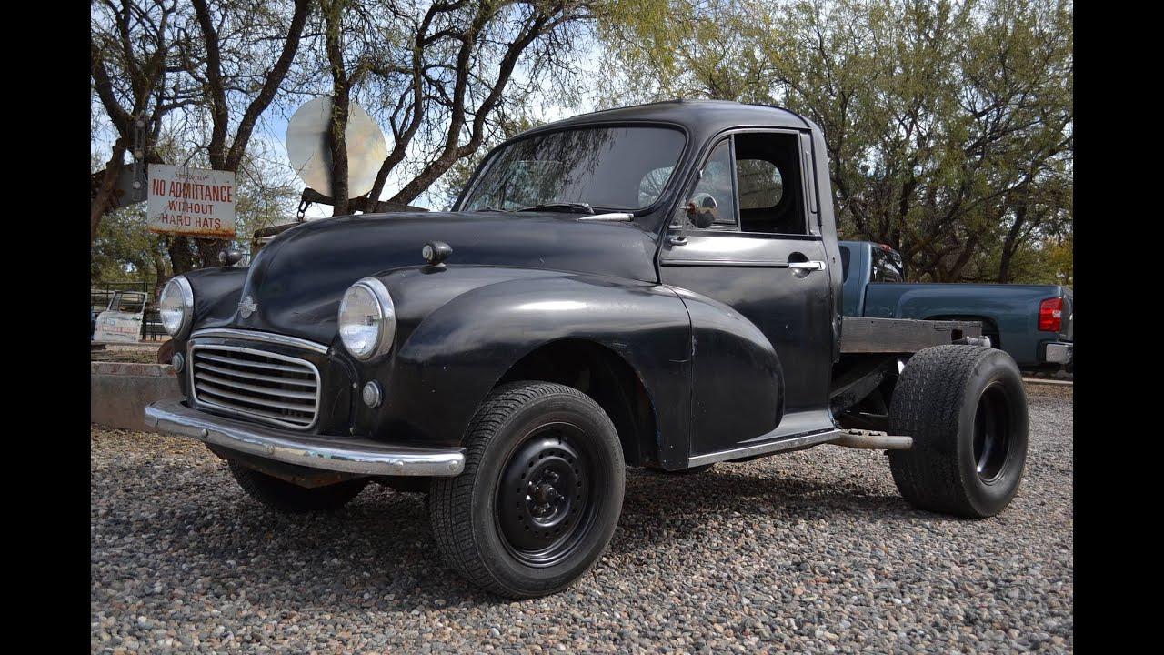 1960 morris minor pickup flatbed v 6 auto youtube. Black Bedroom Furniture Sets. Home Design Ideas