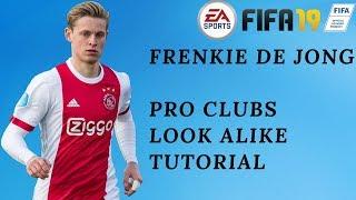 FIFA 19 PRO CLUBS - Best Frenkie De Jong Look Alike TUTORIAL HD