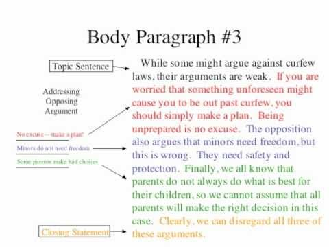 Writing a persuasive essay step by step