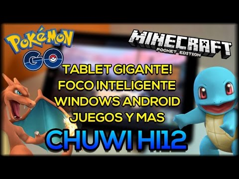 Pokemon Go y Minecraft PE en una Tablet GIGANTE! - Chuwi Hi12 Review - Xiaomi Yeelight