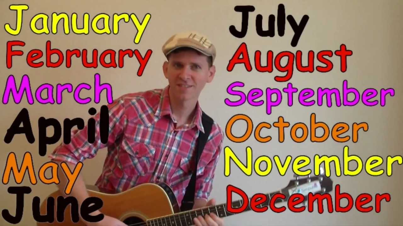 Months of the Year Song - YouTube