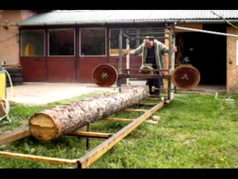 Building a homemade bandsaw mill