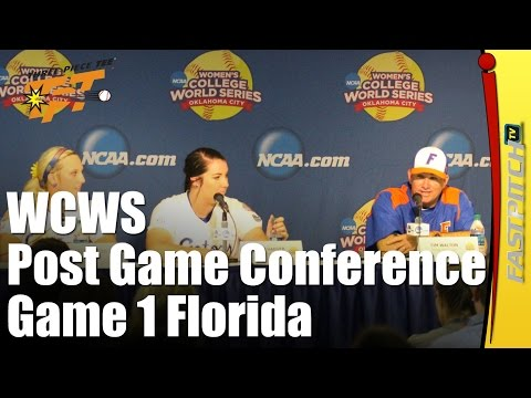 WCWS 2015 Post Game Press Conference Game 1 Florida