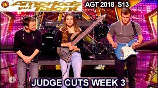 "We Three sings original song ""Lifeline"" Sibling Band America's Got Talent 2018 Judge Cuts 3 AGT"
