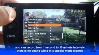 CANON XF105 Tutorial: special recording mode - interval