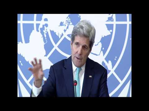 Secretary Kerry Delivers Remarks to the Press in Switzerland