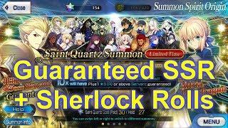 FGO NA – Guaranteed SSR + Sherlock Rolls