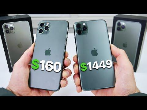 $160 Fake iPhone 11 Pro Max vs $1,449 11 Pro Max! (NEW)