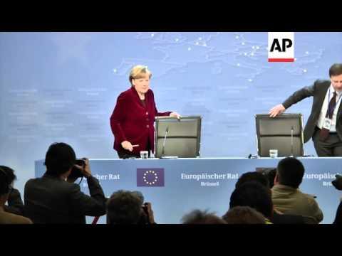 Hollande, Merkel and Tusk comment at end of emergency talks on Ukraine