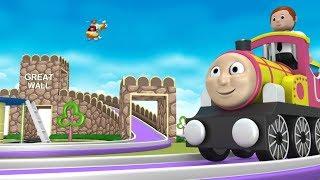 Cartoon Videos for Kids - Toy Train Cartoon - Choo Choo Train - Thomas The Train  - Toy Factory Cars