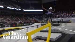 11-year-old Rayssa Leal wins major skateboarding contest