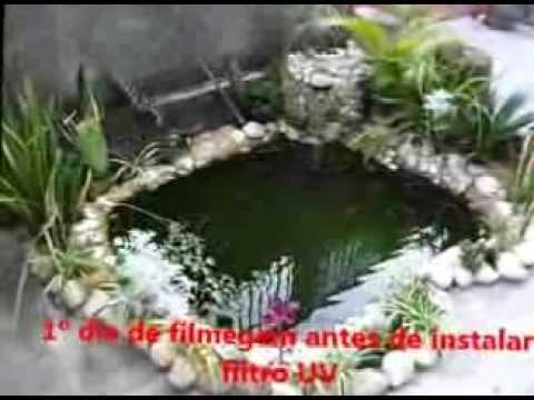 Lago artificial antes e depois filtro uv youtube for Como construir un lago artificial