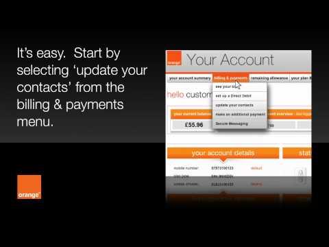 help | Your Account - pay monthly | Orange UK