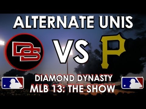 ALTERNATE UNIFORMS! - The Dunbar Snackbars vs. Pittsbugh Pirates: MLB 13 The Show - Diamond Dynasty