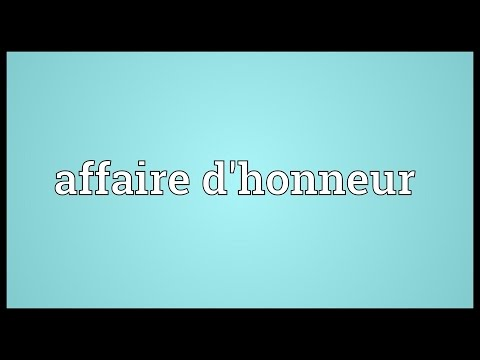 Header of affaire d'honneur