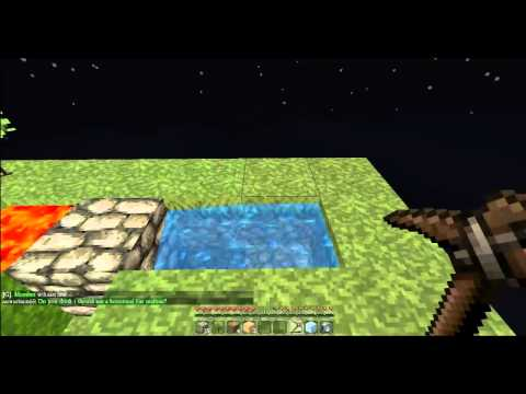 skyblock how to make a cobblestone generator