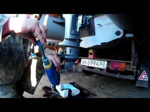 обслуживание лодочного мотора после обкатки