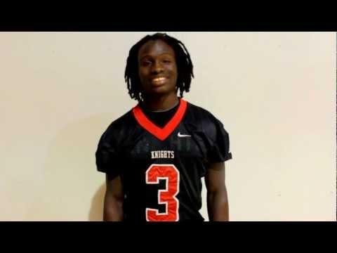 2012 Miami Herald Prep Football Media Day -- Broward County: Monarch's Darius Hoggins