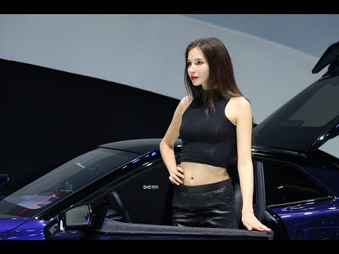 Girls at Chinese Auto Show - Beijing 2018 International Auto Show