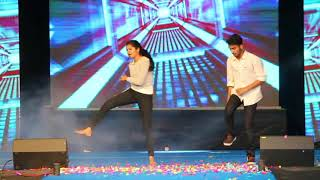 Superb Dance Performance on kung fu kumari Song ll Cute Couple ll College Stage Performance