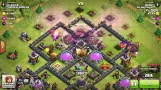 TH7 Attacks a TH9 with Mass Dragons